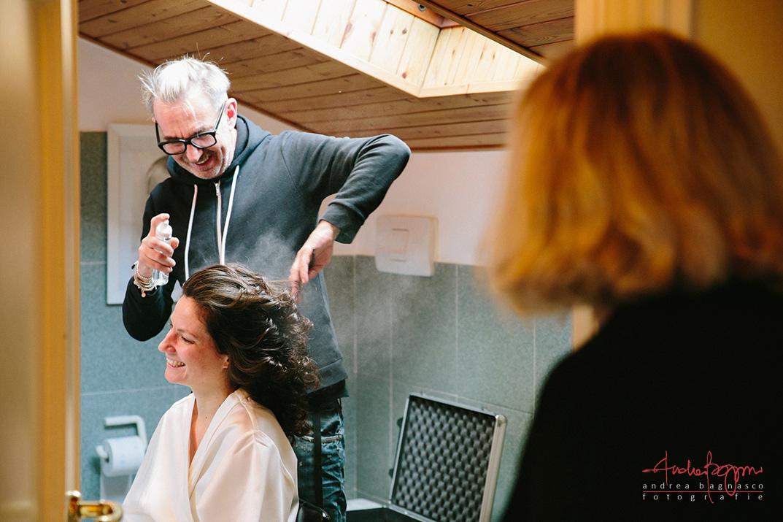 preparazione sposa Torino capelli