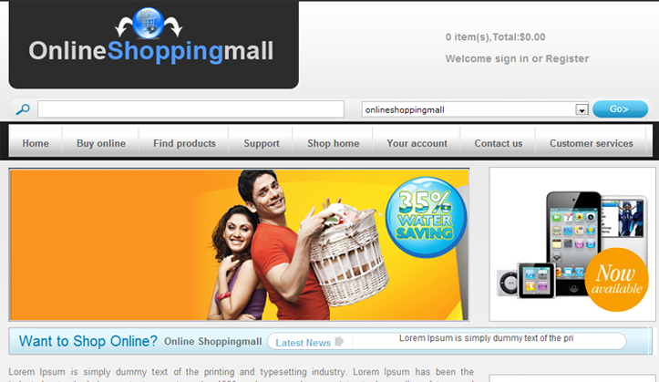 The mall shop online