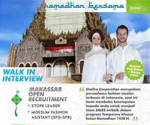 Lowongan Kerja Moeslim Fashion Asistant dan Store Fashion