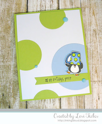 Is It Friday, Yet? card-designed by Lori Tecler/Inking Aloud-stamps from The Cat's Pajamas