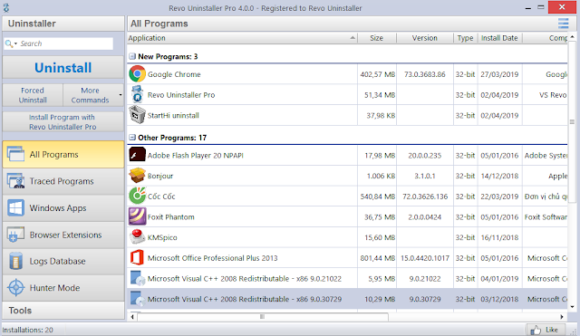 phần mềm Revo Uninstaller Pro Full Active