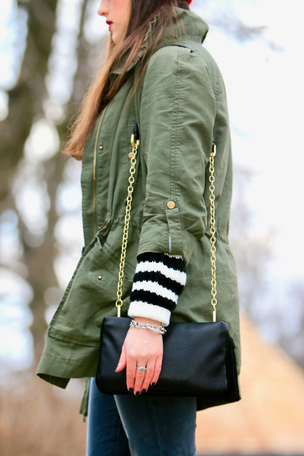 green anorak fashion blogger