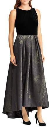 Ralph Lauren Metallic Jacquard Ball Gown