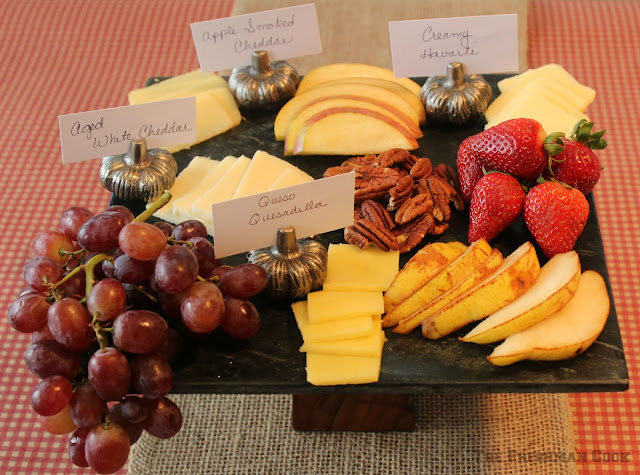 fruit, cheese, grapes, pears, apples, cheddar, havarti,