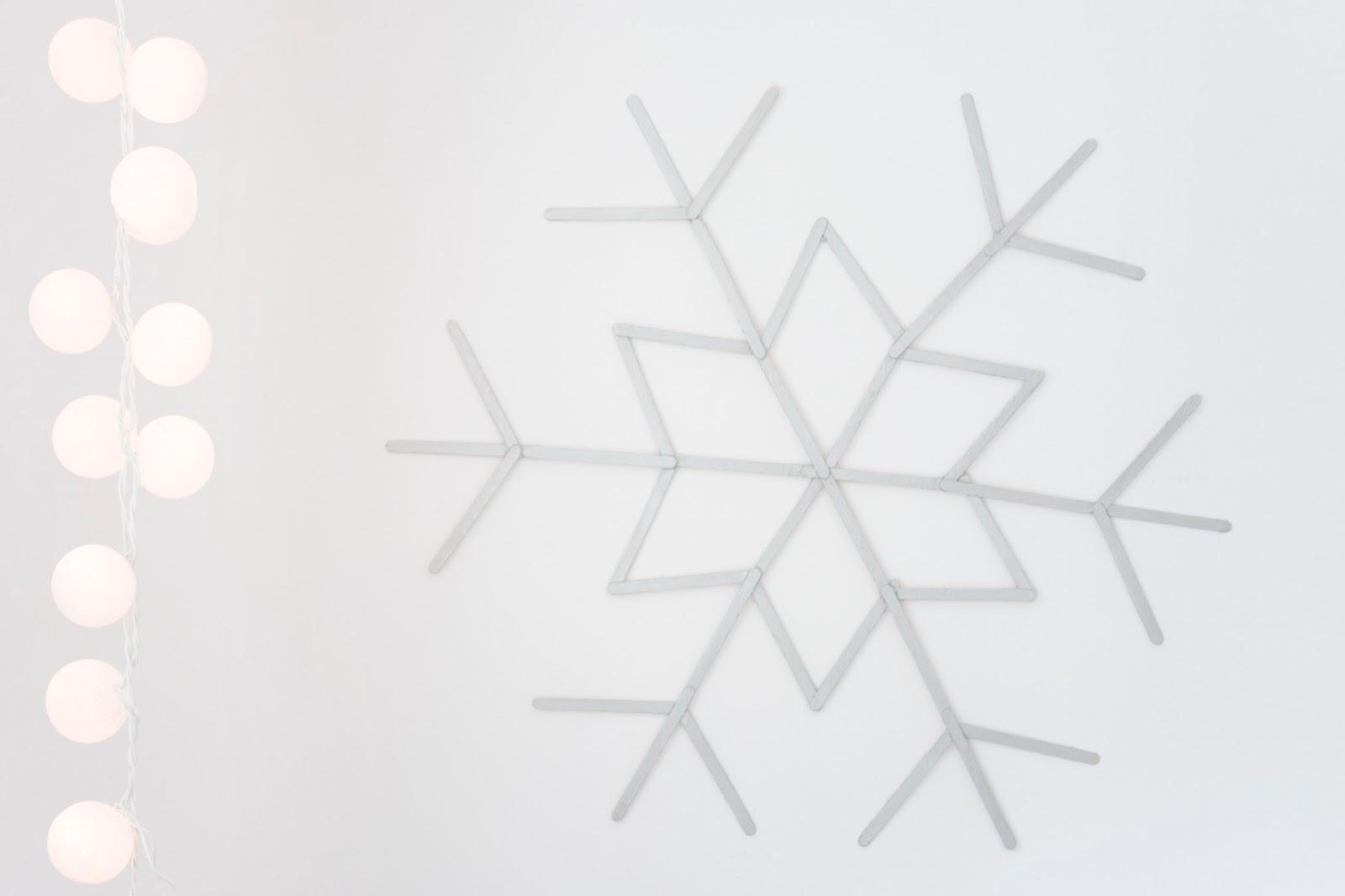 śnieżynka DIY na ścianę
