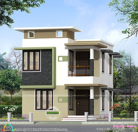 1631 sq ft budget flat roof home kerala home design and duplex house plan and elevation sq ft home appliance ideas
