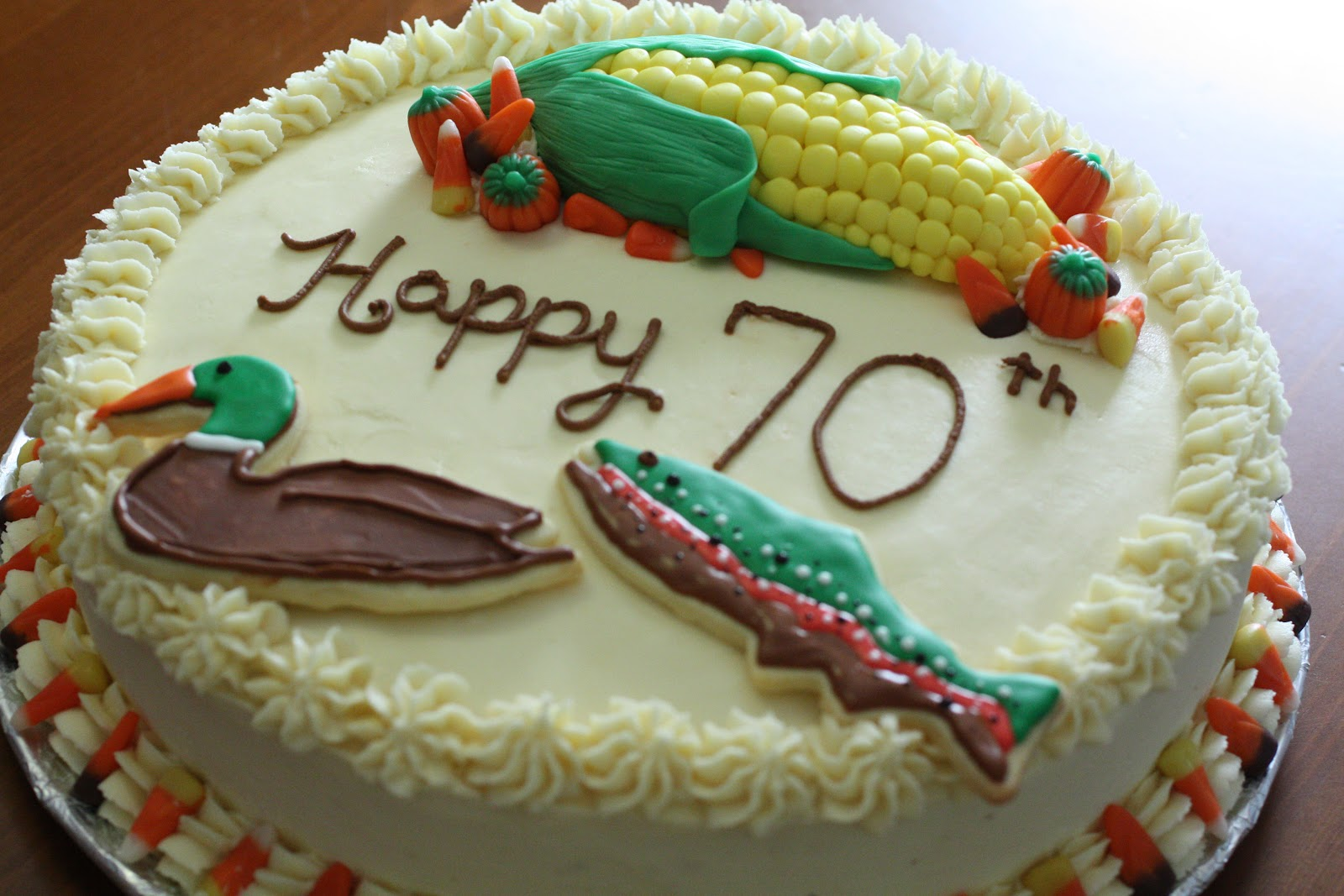 White Cake Recipe King Arthur: Brooketrout Designs: 70th Birthday Cake