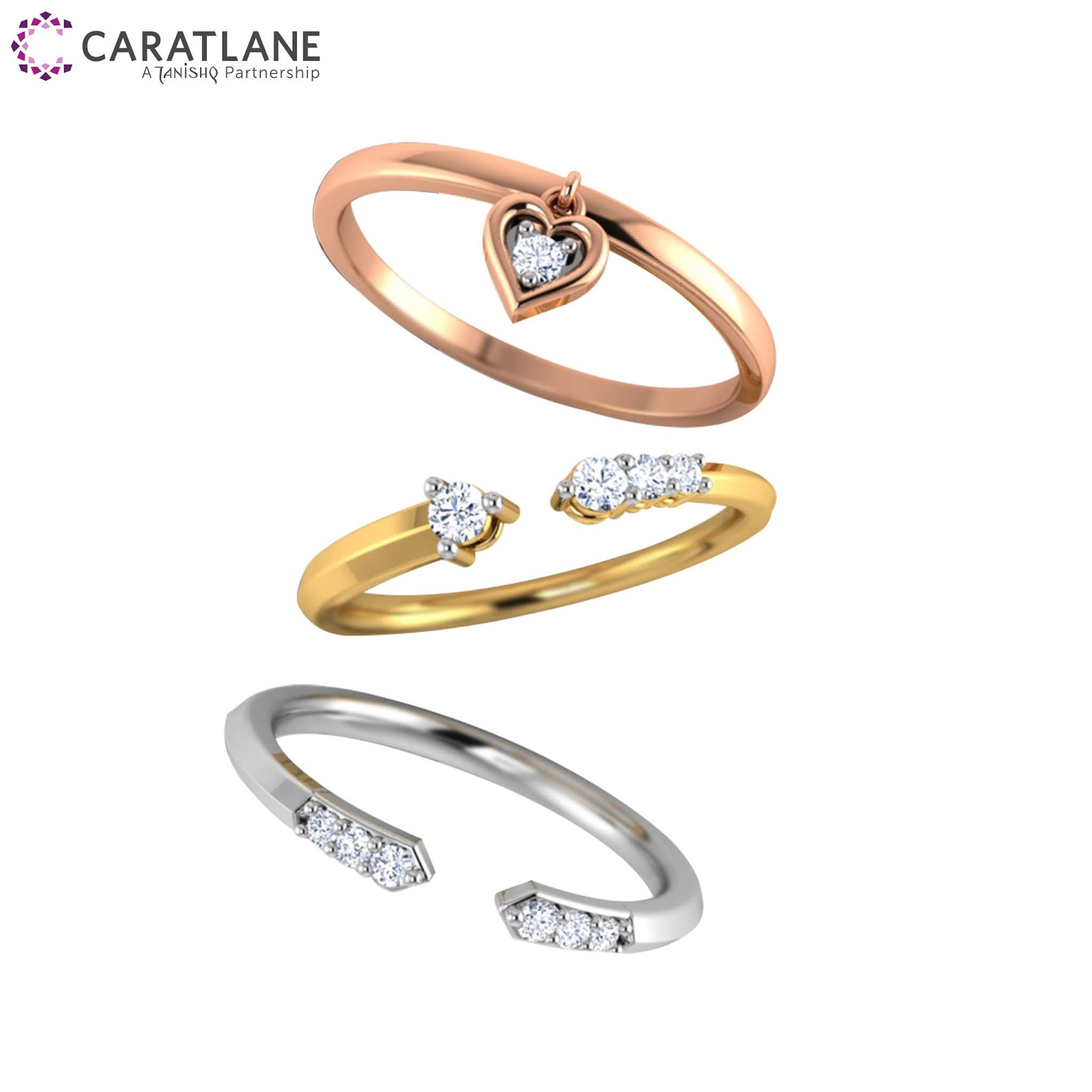 7b7124146e221 Caratlane Presents Jewellery Trend: Stackable Rings