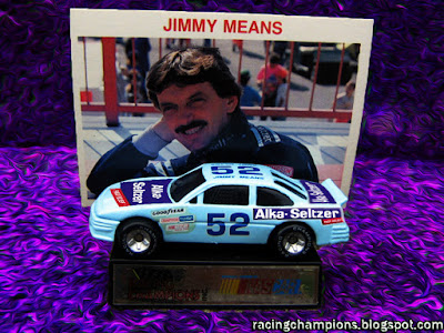 Jimmy Smut Means #52 Alka Seltzer Racing Champions 1/64 NASCAR diecast blog custom age
