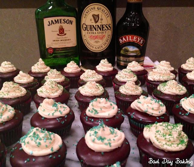 Bad Day Baking: Mini Irish Car Bomb Cupcakes