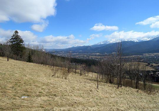 Widok w kierunku centrum Zakopanego.