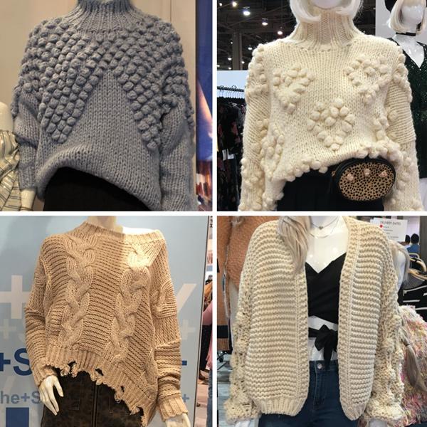 chunky knitwear fashion trend