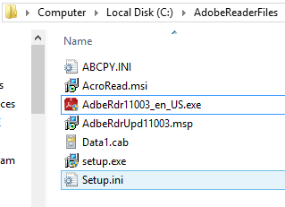 How to Extract an MSI Installer from Adobe Reader XI 3