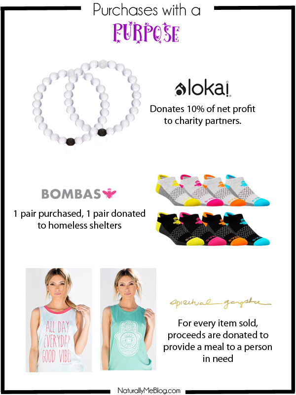 Purchases with a purpose, activewear, Live Lokai, Bombas socks, socks, Spiritual Gangster, Yoga, yoga clothes, yoga wear, monday motivation