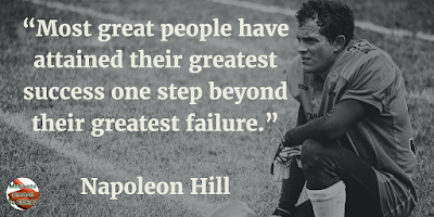 "71 Quotes About Life Being Hard But Getting Through It: ""Most great people have attained their greatest success one step beyond their greatest failure."" - Napoleon Hill"