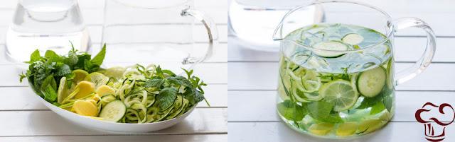 Receta Agua aromatizada de limón parte 2