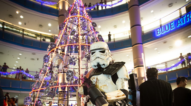 Sandtrooper Star Wars Christmas Tree sunway pyramid go rogue malaysia