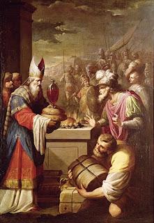 Abraham pay tithe to Melchizedek