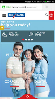 YES BANK launches their revamped 'Mobile First' website in India.