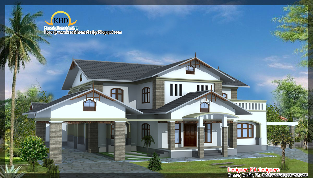 4 beautiful house elevations kerala home design and for Home design in 6 cent