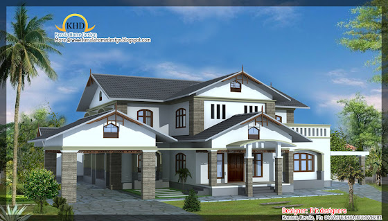 awesome house designs - 3165 Sq. Ft (294 Square Meter)