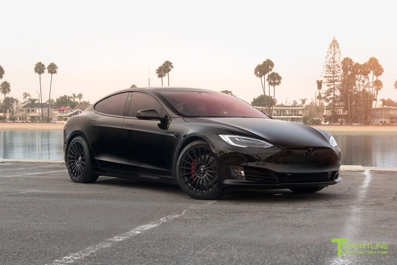 t sportline unveils a sporty tesla model s p100d. Black Bedroom Furniture Sets. Home Design Ideas