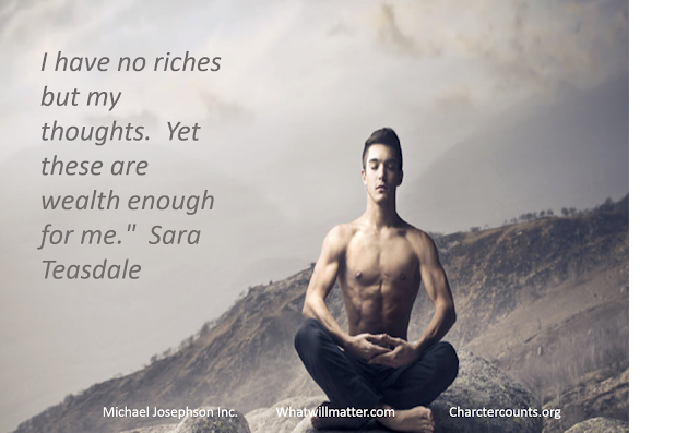 I have no riches...