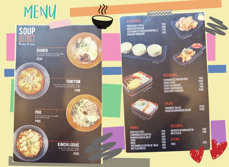 Soup District Menu