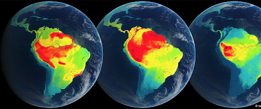South America showing color coded density of endemic species of animals - Ecoclimax