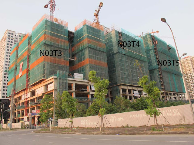 Bảng giá chung cư Ngoại Giao Đoàn và tiến độ xây dựng - Cập nhật ngày 10/8/2016