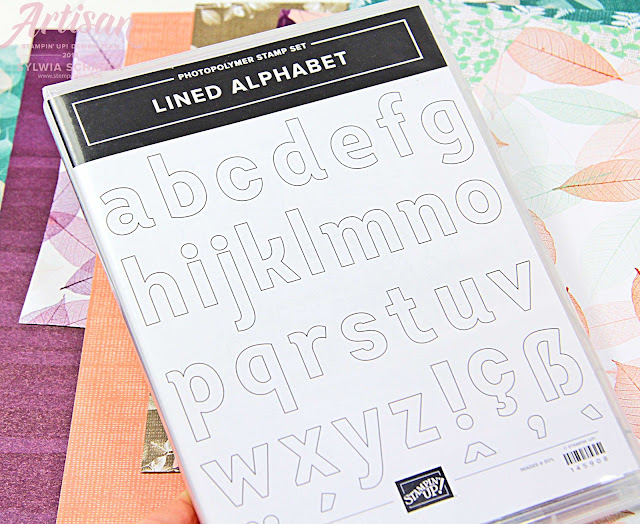 Lined Alphabet Stampin up
