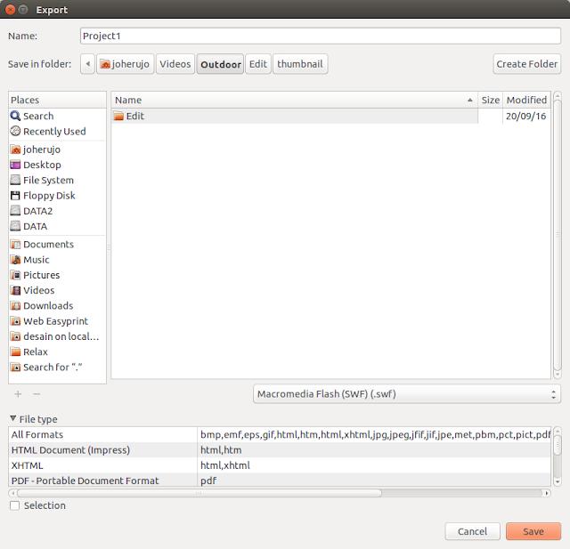 Export Libre Office Impact .odp Ke Video