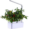 Smart Hydroponics Indoor Herb Garden Kit By SavvyGrow- Growing System With 2 Self-Watering Herb Garden Pots, Seeds, Fertilizer, Planting Medium, White LED Grow Light - All In 1 System Ready To Grow