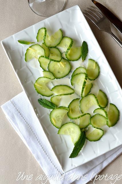 Salade de concombre à la crème de coco, d'Alain Ducasse