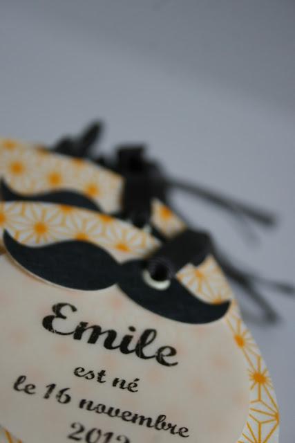 faire-part naissance moustache rétro papier japonais sur mesure raffiné fait main haut de gamme cadeau invité