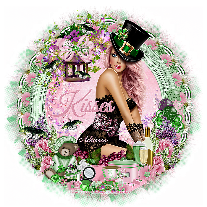 Adrienne's Designs: Clover/A Kiss For Luck