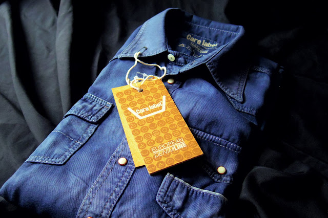 Care Labelのブルー ウエスタン デニムシャツ