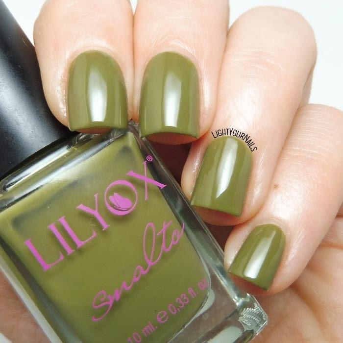 Smalto verde oliva Lilyox 54 olive green nail polish #nails #unghie #lilyox #lightyournails
