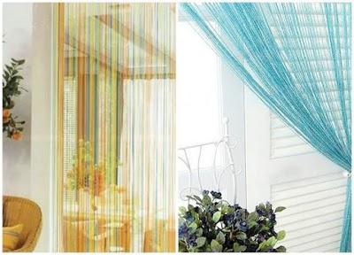 Cómo hacer cortinas Kisei con grupos de hilos