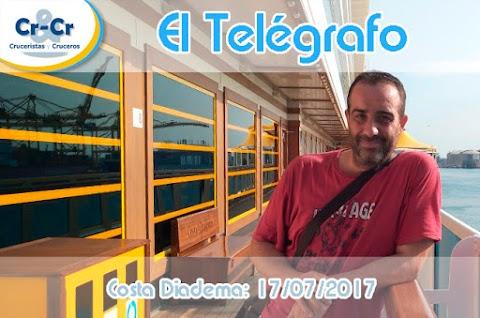 EL TELÉGRAFO - PRIMER DÍA - COSTA DIADEMA  17/07/2017 AL 24/07/2017