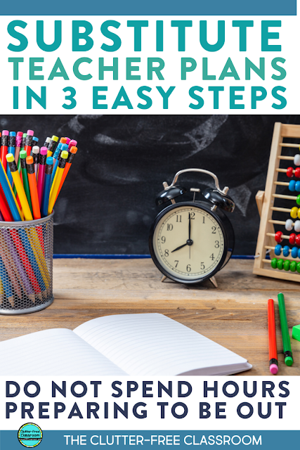 Elementary teachers you need to start using a template for sub plans! It is so easy to use and organized. They have awesome tips about including classroom management and behavior information in your plans. Head over to the blog to read learn how to write your own sub plans! #subplans #dayoff #sickteacher