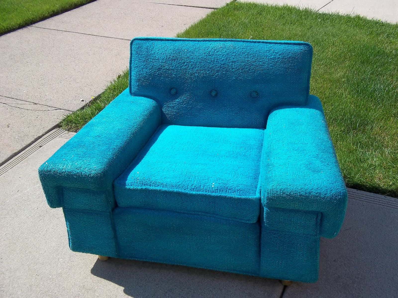 turquoise lounge chair motorized accessories funky mid century kroehler sold gatyo retro