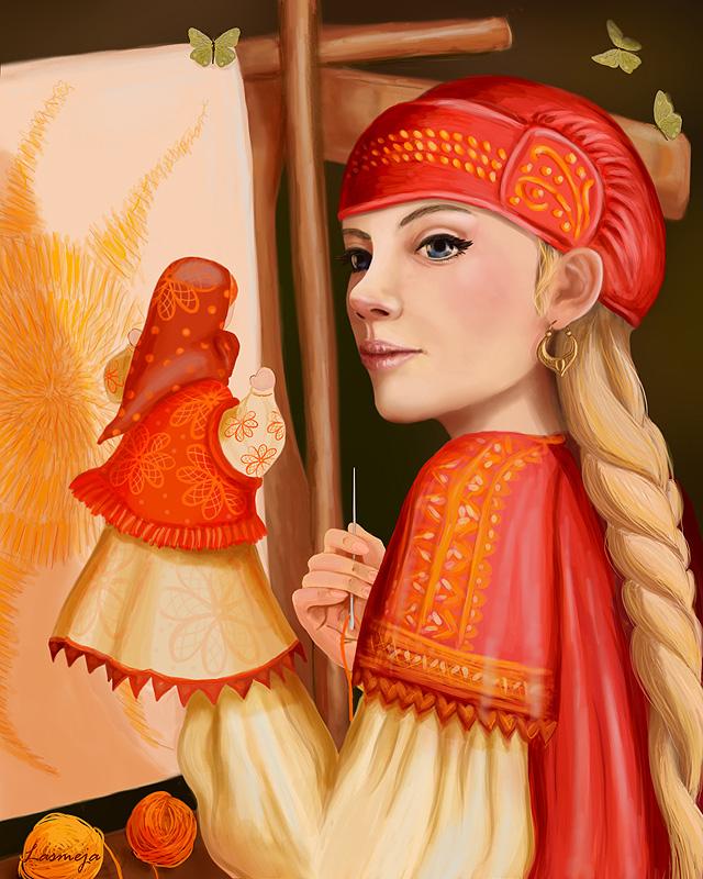 Девушки из русских сказок картинки