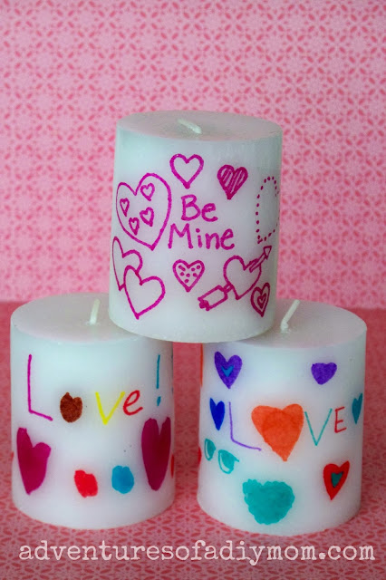 customized valentines candles
