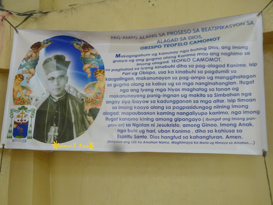 Tarp for the beatification of Archbishop Camomot in Consolacion Church (Consolacion, Cebu)