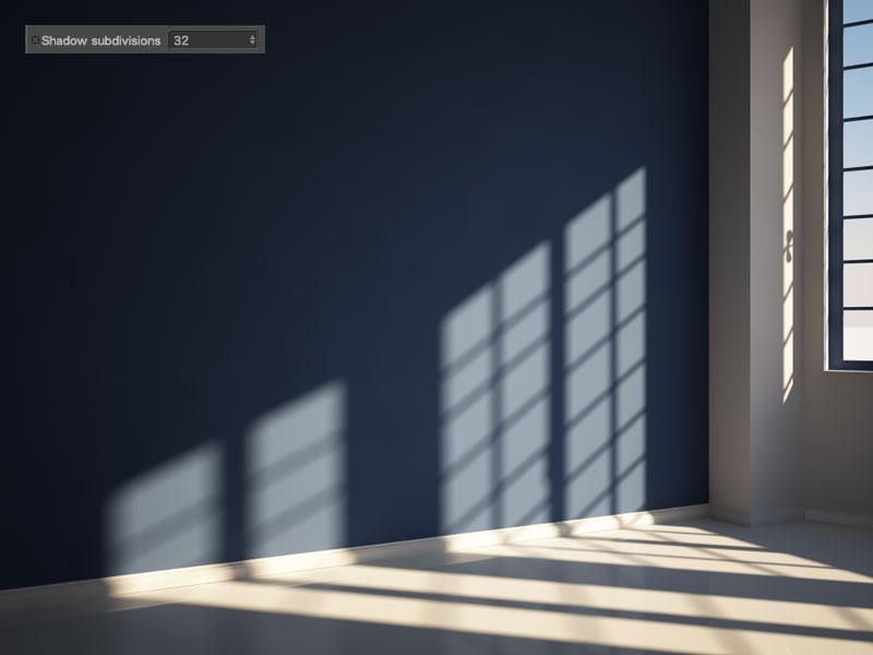 eliminare grana ombre physical sun vray