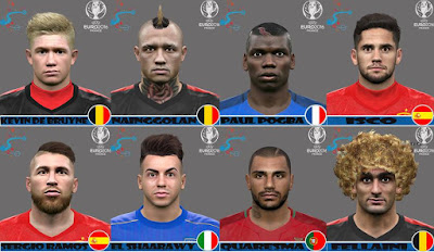 PES 2016 EUROCOPA-COPA AMERICA facepack by Jonathan facemaker