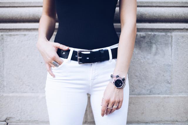 Jenny Bird Bracelet, Brave Leather Classic Leather belt, J Brand Jeans