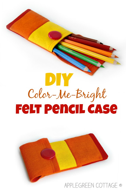 Beginner sewing tutorial. How to make a felt pencil case.