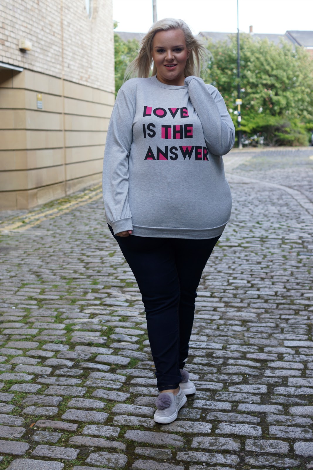 Love Is The Answer Slogan Plus Size Jumper from Yours Clothing WhatLauraLoves Blogger